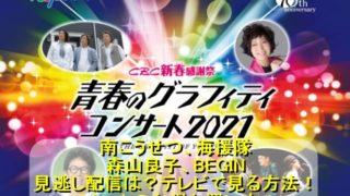 『青春のグラフィティコンサート2021』をテレビで見る方法!見逃し配信は?チケットのお得な買い方を解説