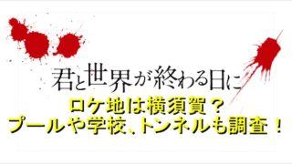 君と世界が終わる日にのロケ地は横須賀?プールや学校、トンネルなどを調査!